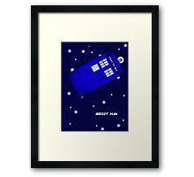 Doctor Who Rocket Man Framed Print