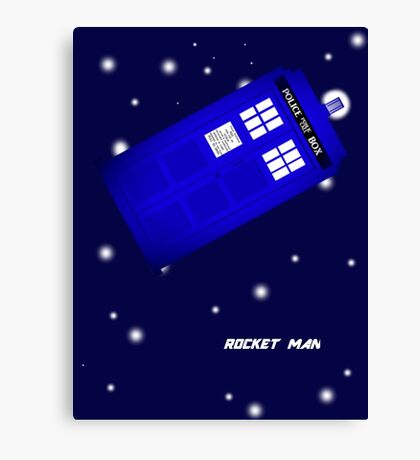 Doctor Who Rocket Man Canvas Print
