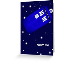 Doctor Who Rocket Man Greeting Card