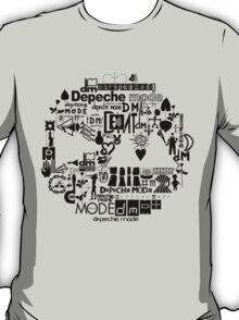Depeche Mode : DM Logo 2013 - With old logo 2 - Black T-Shirt
