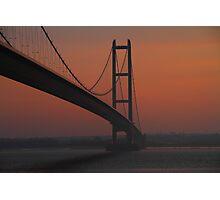 The Humber Bridge at Dusk Photographic Print