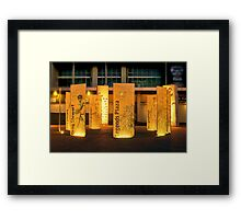 """Legends Plaza"" Framed Print"