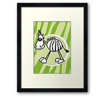 zorro the zebra Framed Print