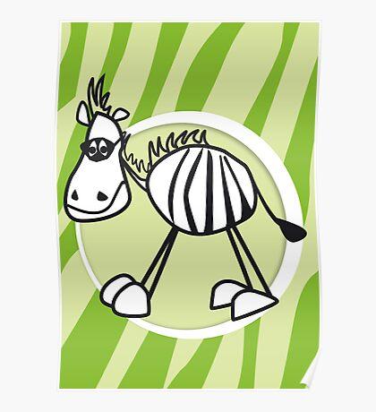 zorro the zebra Poster