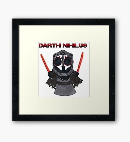 Darth Nihilus Puff Framed Print