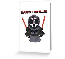 Darth Nihilus Puff Greeting Card