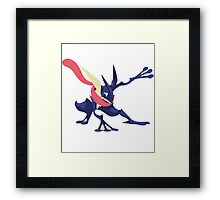 Minimalist Greninja from Super Smash Bros. 4  Framed Print