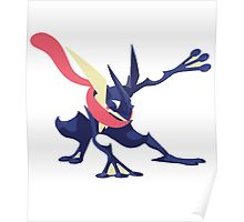 Minimalist Greninja from Super Smash Bros. 4  Poster
