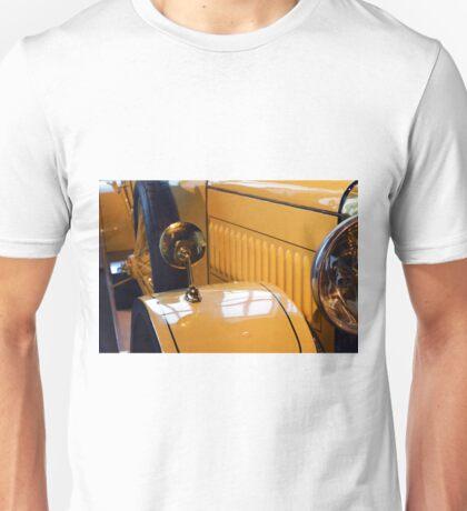 Close up on yellow vintage car Unisex T-Shirt