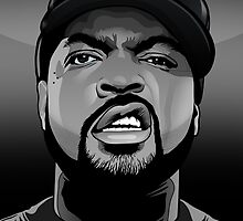 ICE CUBE VECTOR PORTRAIT - by Vik Kainth by Vik Kainth