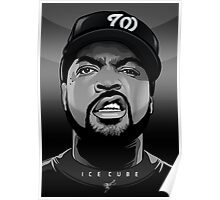 ICE CUBE VECTOR PORTRAIT - by Vik Kainth Poster