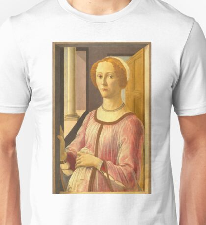 Botticelli - Portrait Of A Lady Known As Smeralda Bandinelli (1470 1480 (Painted) - 1480) Unisex T-Shirt