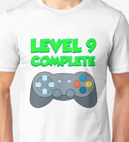 Level 9 Complete Video Gamer For Boys 9th Birthday  Unisex T-Shirt