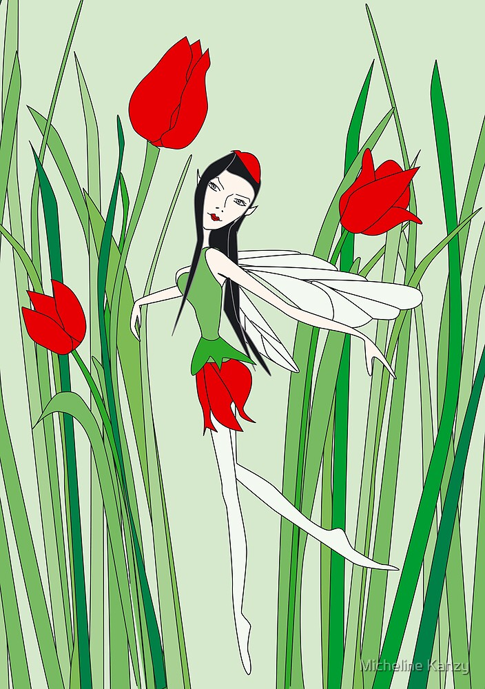 flower fairy tulip by Micheline Kanzy