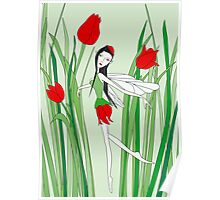 flower fairy tulip Poster