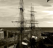 Tall ships  by Paul Gibbons