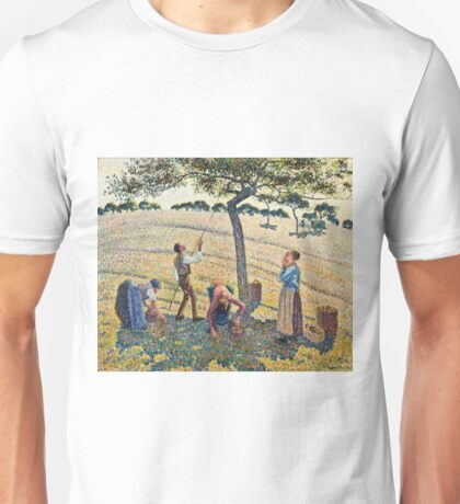Camille Pissarro - Apple Harvest (1888) Unisex T-Shirt