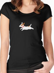 Cute Jack Russell Terrier Women's Fitted Scoop T-Shirt