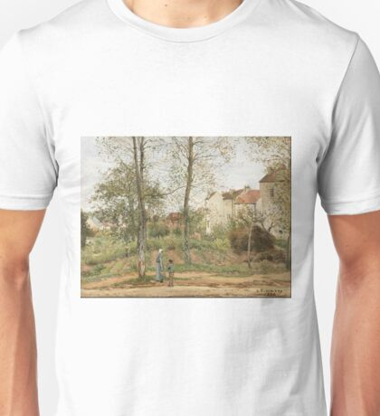 Camille Pissarro - Houses At Bougival (Autumn) 1870 Unisex T-Shirt