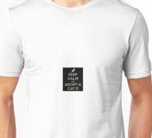 keep clam adot a cat Unisex T-Shirt