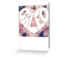 Caleo floral background Greeting Card