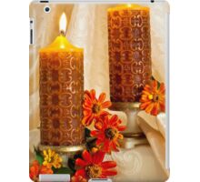 Zinnias And Candles Still Life  iPad Case/Skin
