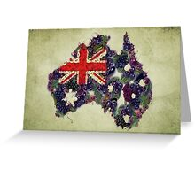 Australian Flag Map Fruits And Vegetables Greeting Card