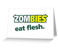 zombie outbreak the walking dead Zombies eat flesh Greeting Card