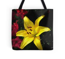 jaune et rouge Tote Bag