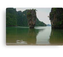 """Phang-na """"James Bond"""" Island Canvas Print"""