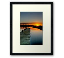 The Empty Pier Framed Print
