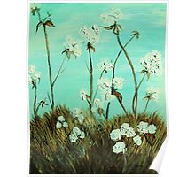 Blue Skies over Cotton Poster