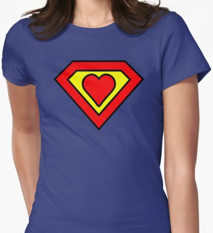 Super love Womens Fitted T-Shirt