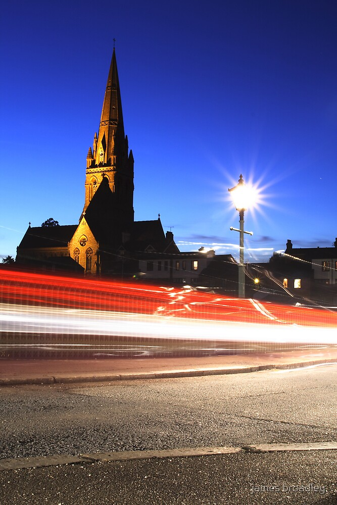 church by dusk by james broadley