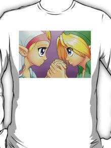 Legend of Zelda: Ocarina of Time - Young Link and Zelda T-Shirt