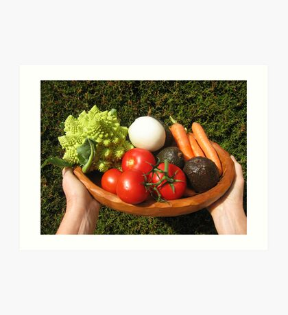 appetizing vegetables  Art Print