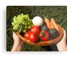 appetizing vegetables  Metal Print