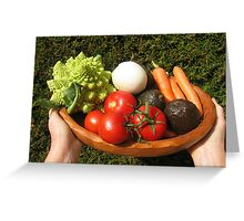 appetizing vegetables  Greeting Card
