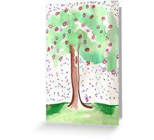 Mellinial Reign of Christ Jesus - blooming flowers  Greeting Card