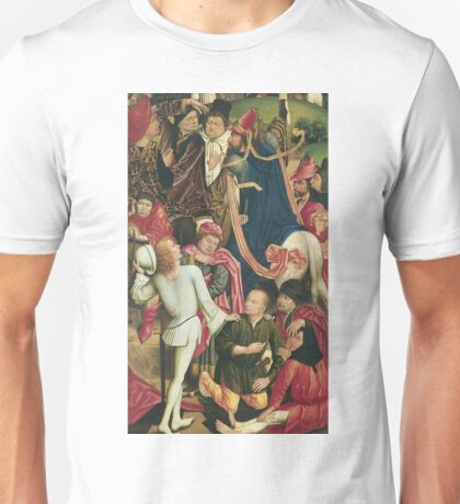 Derick Baegert - Knights And Soldiers Playing Dice For Christs Robe Unisex T-Shirt