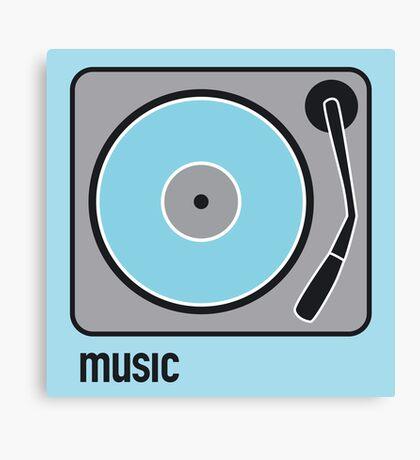 music blue Canvas Print