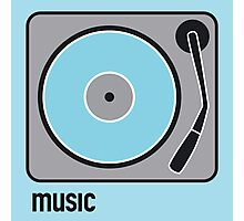 music blue Photographic Print