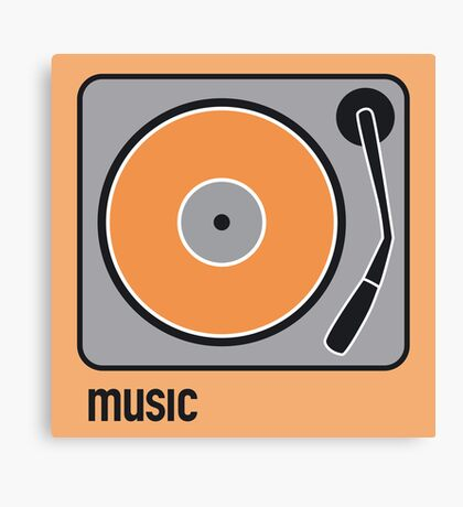 music orange Canvas Print