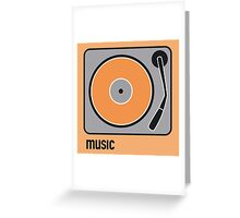 music orange Greeting Card