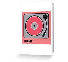 music red Greeting Card