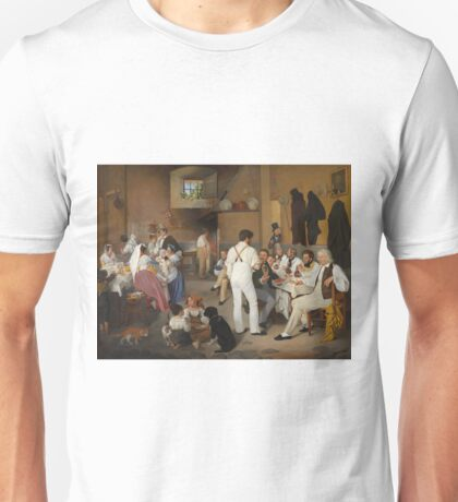 Ditlev Blunck - Danish Artists At The Osteria La Gensola In Rome 1837  Unisex T-Shirt