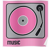 music pink Poster