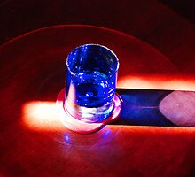 Blue Glass on Table by Curley