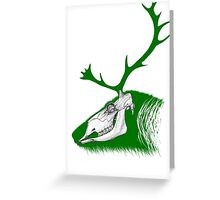 Rudolph the Green Reindeer Greeting Card