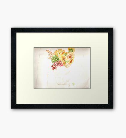 marthas vineyard - galvanized gift bucket Framed Print